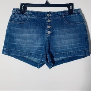 Free People Braided Waistband 4 Button Shorts 28